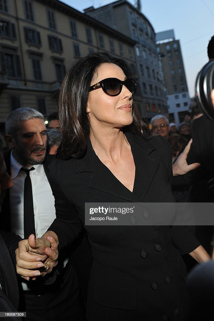 Monica Bellucci is seen on January 26, 2013 in Milan, Italy.