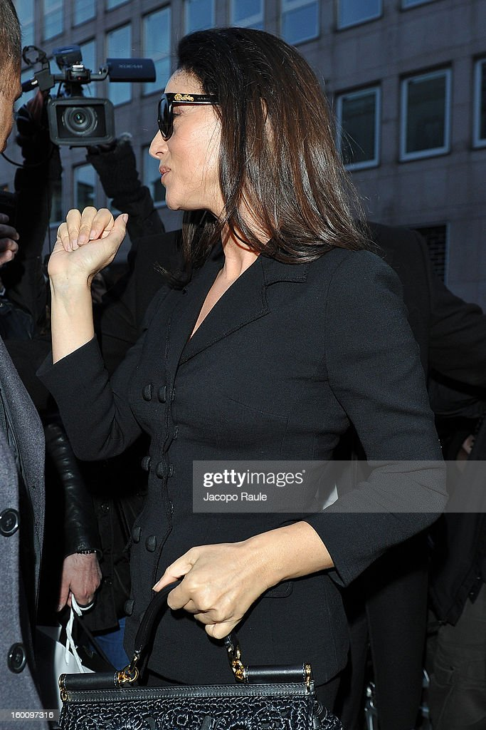 <a gi-track='captionPersonalityLinkClicked' href=/galleries/search?phrase=Monica+Bellucci&family=editorial&specificpeople=204777 ng-click='$event.stopPropagation()'>Monica Bellucci</a> is seen on January 26, 2013 in Milan, Italy.