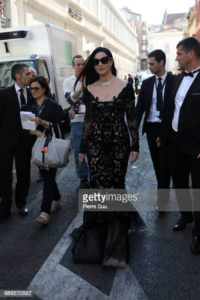 Monica bellucci is spotted at the hotel Majestic during the 70th annual Cannes Film Festival at on May 28 2017 in Cannes France