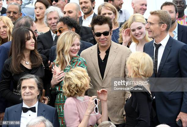 Monica Bellucci Kirsten Dunst Benicio del Toro Elle Fanning Lambert Wilson JeanPierre Leaud Diane Kruger and Nicole Kidman attend the 70th...