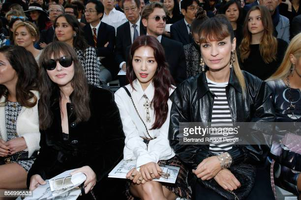 Monica Bellucci Park ShinHye and Caroline de Maigret attend the Chanel show as part of the Paris Fashion Week Womenswear Spring/Summer 2018 on...