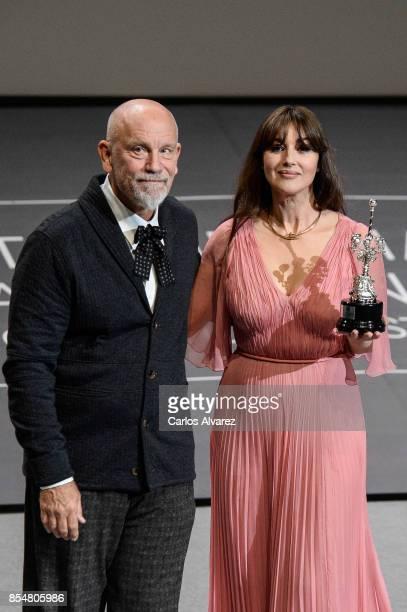 Monica Bellucci receives Donostia Award during 65th San Sebastian Film Festival on September 27 2017 in San Sebastian Spain