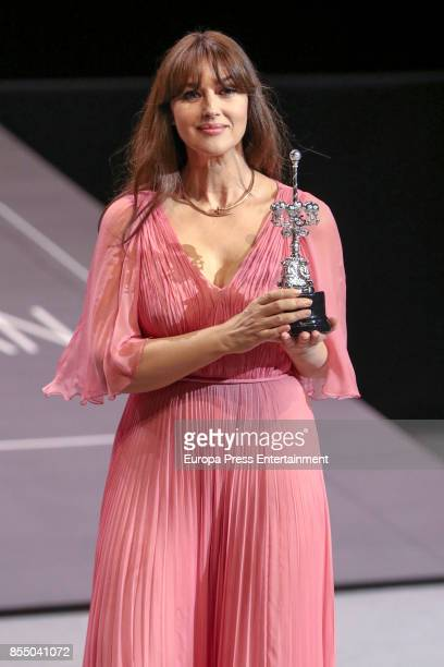 Monica Bellucci receives Donostia Award during 65th San Sebastian Film Festival on September 27 2017 in San Sebastian Spain