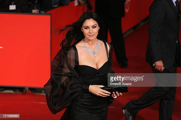 Monica Bellucci Red carpet of 'Le Deuxieme Souffle' RomeCinemaFest 2nd edition Monica Bellucci wear DG dress and an amazing diamonds necklace from...