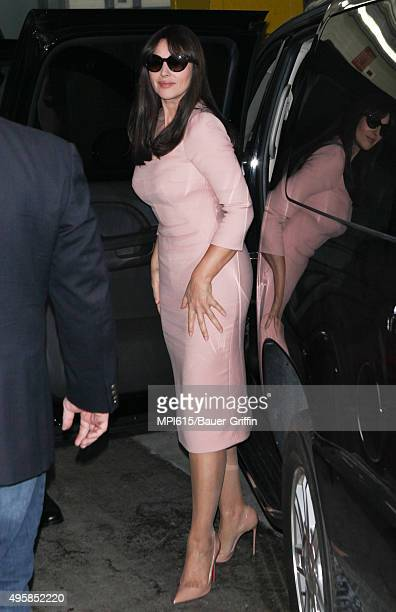 Monica Bellucci seen arriving to an early morning event on November 05 2015 in New York City
