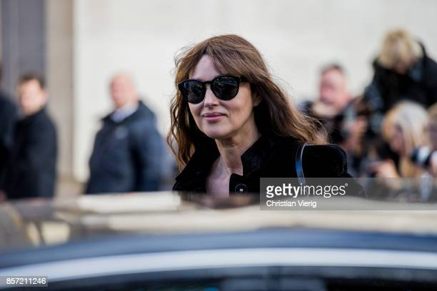 Monica Bellucci seen outside Chanel during Paris Fashion Week Spring/Summer 2018 on October 3 2017 in Paris France