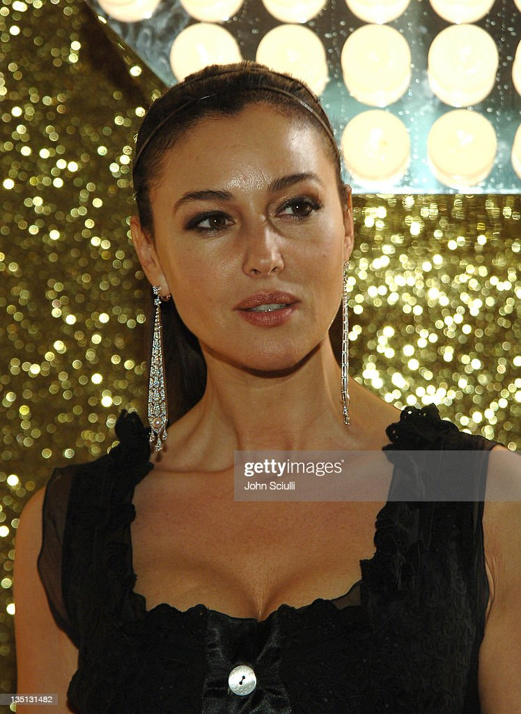 Monica Bellucci wearing Dolce & Gabbana during 2006 Cannes Film Festival - Dolce & Gabbana Party at Hotel Martinez in Cannes, France.
