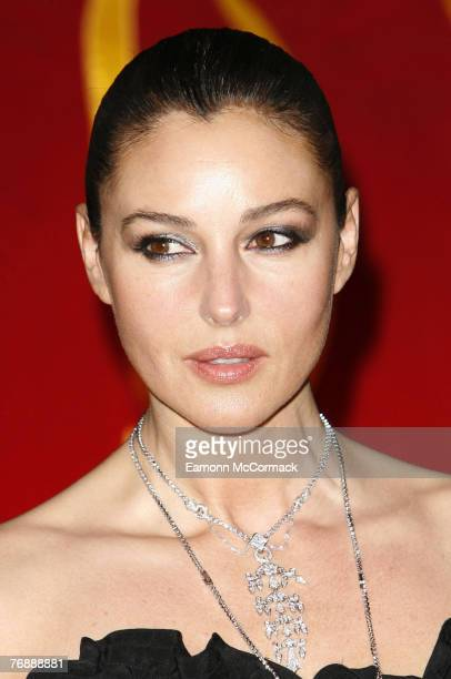 Monica Belluci attends Cartier's International Launch of Inde Mysterieuse at the Cartier store on September 19 2007 in London England