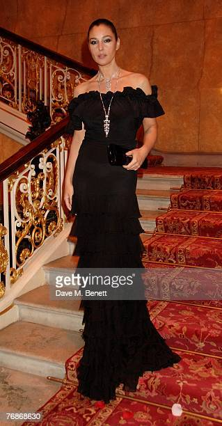 Monica Belluci attends the Cartier International Jewellery Launch Night at Lancaster House on September 19 2007 in London England