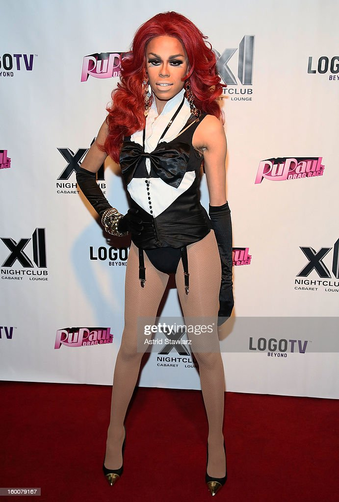 Monica Beverly Hillz attends 'Rupaul's Drag Race' Season 5 Premiere Party at XL Nightclub on January 25, 2013 in New York City.