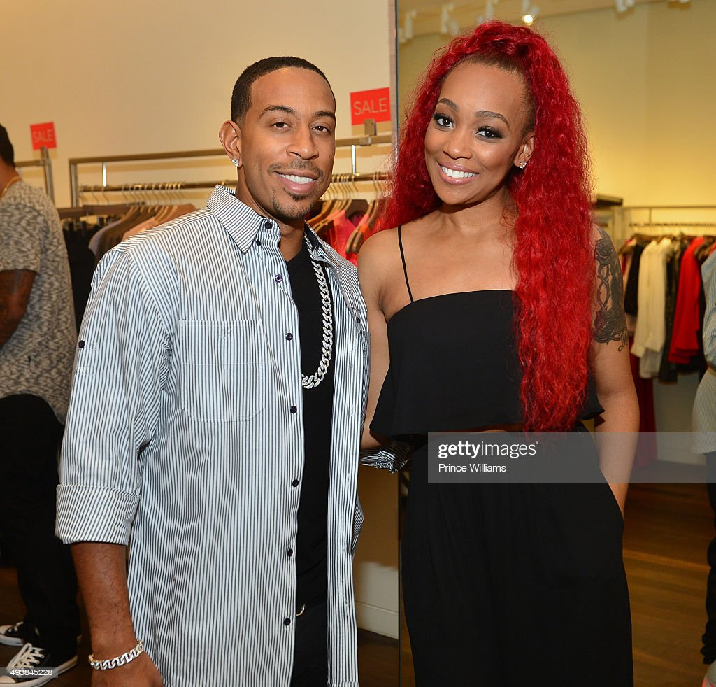 Monica Brown and Chris 'Ludacris' Bridges attend Unspoken Angels Charity Event For Domestic Violence Awareness Month at Intermix Buckhead on October...