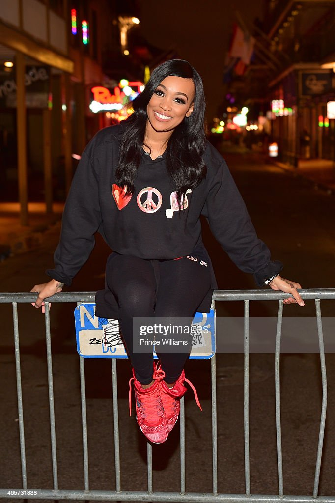 Monica Brown attend Power Black And White Affair at Harrah's Casino on March 8 2015 in New Orleans Louisiana