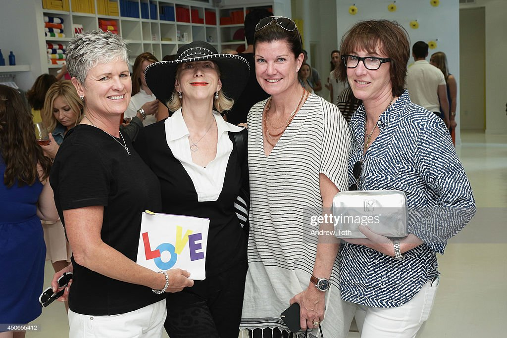 Monica Bury, Gwen Angster, Treva Walden and Jane Beriliner attend Hamptons Magazine celebrates The New Lisa Perry store on June 14, 2014 in East Hampton, New York.