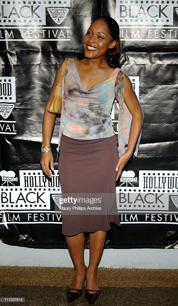 Monica Calhoun during World Premiere of Acclaimed Actor- Filmmaker Tim Reid's 'For Real' to Open 5th Anniversary Hollywood Black Film Festival at The Harmony Gold Preview House in Hollywood, California, United States.