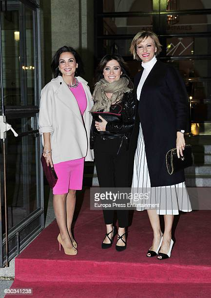 Monica Carrillo Helena Resano and Susanna Griso attend the ATRESMEDIA Christmast Dinner on December 20 2016 in Madrid Spain