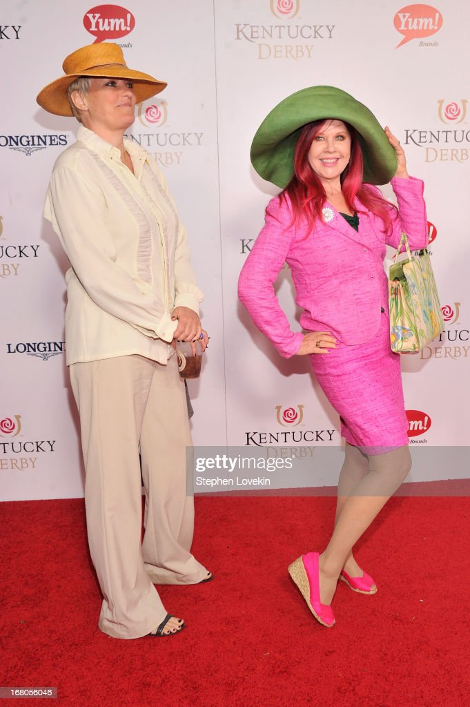 Monica Coleman and Kate Pierson attend the 139th Kentucky Derby at Churchill Downs on May 4, 2013 in Louisville, Kentucky.