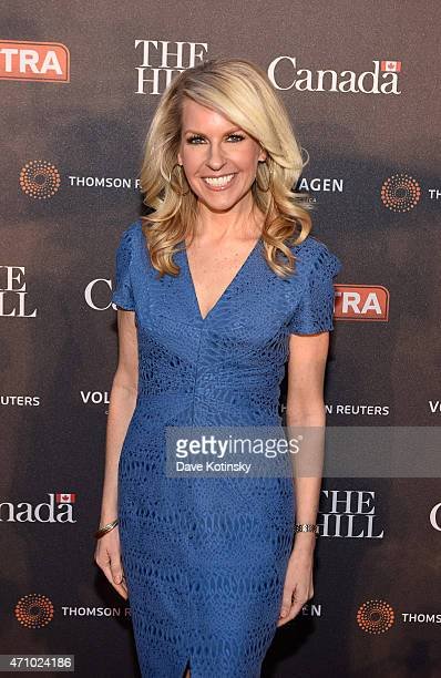 Monica Crowley attends the The Hill Extra And The Embassy Of Canada Celebrate The White House Correspondents' Dinner Weekend at Embassy of Canada on...