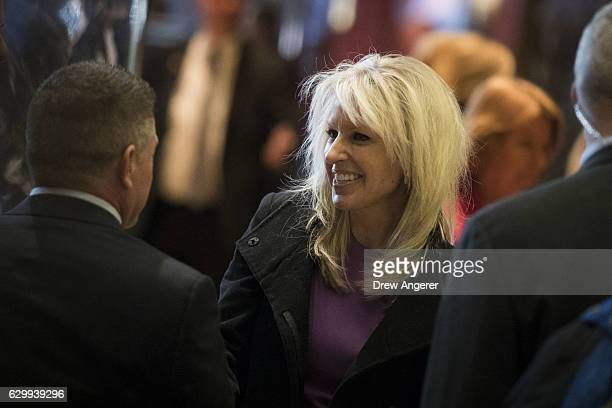 Monica Crowley recently chosen as a deputy national security advisor in Presidentelect Donald Trump's administration departs Trump Tower December 15...