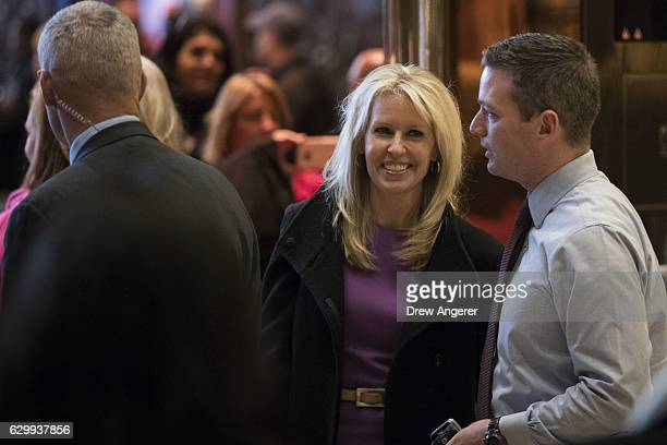 Monica Crowley recently chosen as deputy national security adviser in Presidentelect Donald Trump's administration departs Trump Tower December 15...
