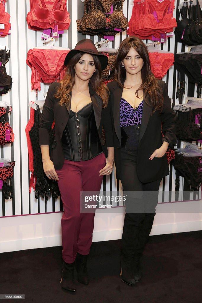Penelope & Monica Cruz At The 1st L'Agent By Agent Provocateur London Boutique