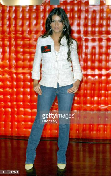 Monica Cruz and UPA Dance during Press Conference with Monica Cruz and Her Band UPA Dance to Announce Their Summer 2003 Tour at MOMA Club in Madrid...