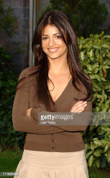 Monica Cruz announces the end of her TV show 'Un Paso Adelante' during a press conference at Antena 3 Studios in Madrid