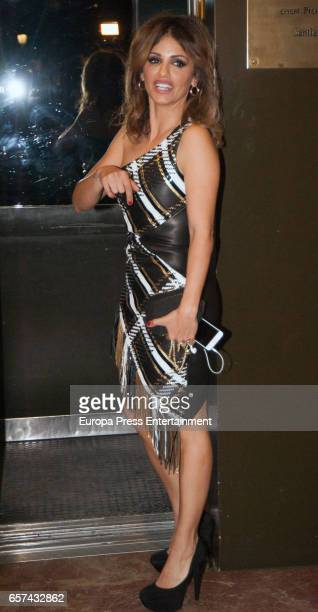 Monica Cruz attends her 40th birthday party on March 14 2017 in Madrid Spain