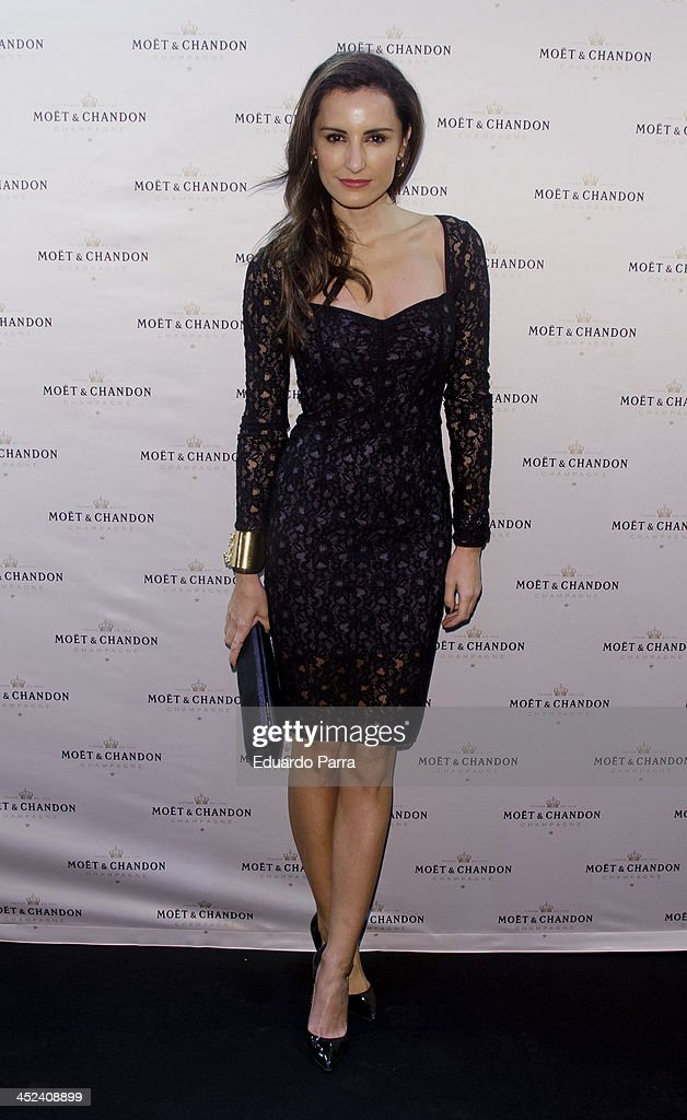 Monica de Tomas attends 'Moet Golden Glass' party photocall at Le Boutique on November 28, 2013 in Madrid, Spain.