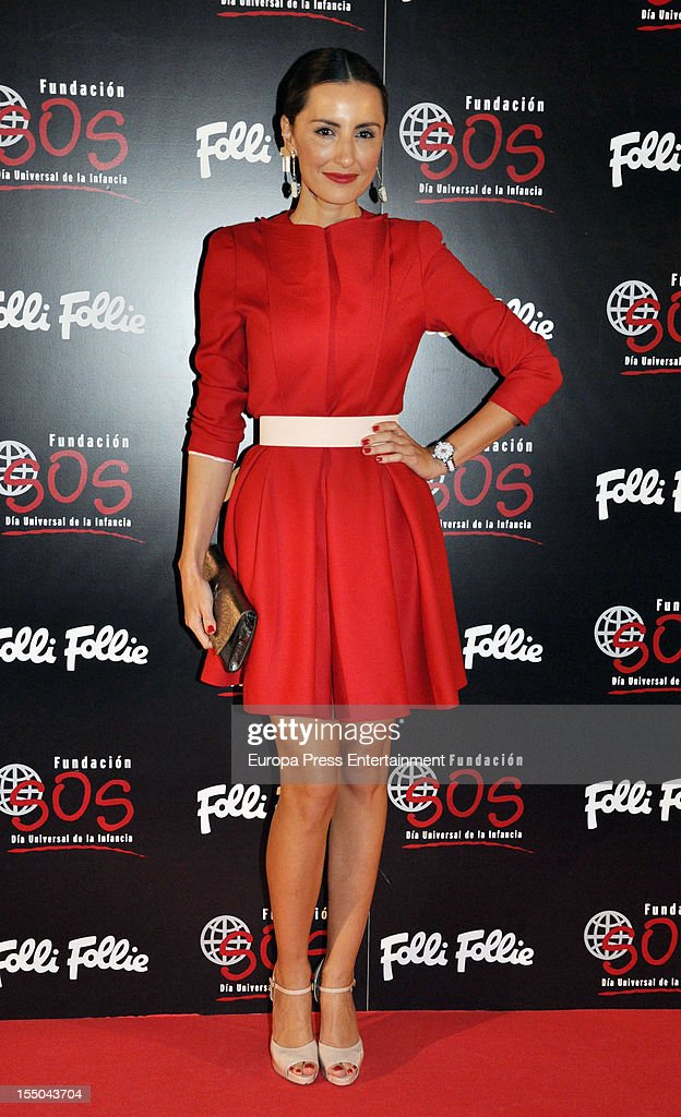 Monica de Tomas attends the 'Folli Follie' campaign launch on October 30, 2012 in Madrid, Spain.