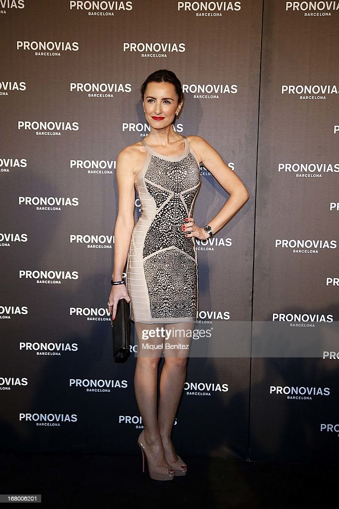 Monica de Tomas attends the Pronovias bridal fashion show during Barcelona Bridal Week 2013 on May 3, 2013 in Barcelona, Spain.