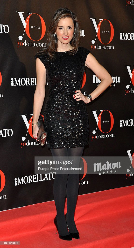 Monica de Tomas attends 'Yo Dona' magazine mask party on February 18, 2013 in Madrid, Spain.