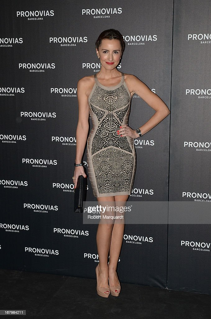 Monica de Tomas poses for a photocall before the Pronovias bridal fashion show during Barcelona Bridal Week 2013 on May 3, 2013 in Barcelona, Spain.