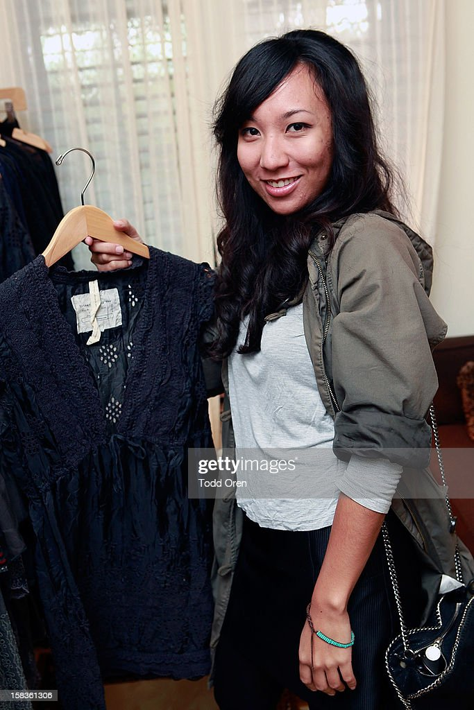 Monica DeCastro poses at the Johnny Was Holiday Gifting Suite at Chateau Marmont on December 13, 2012 in Los Angeles, California.