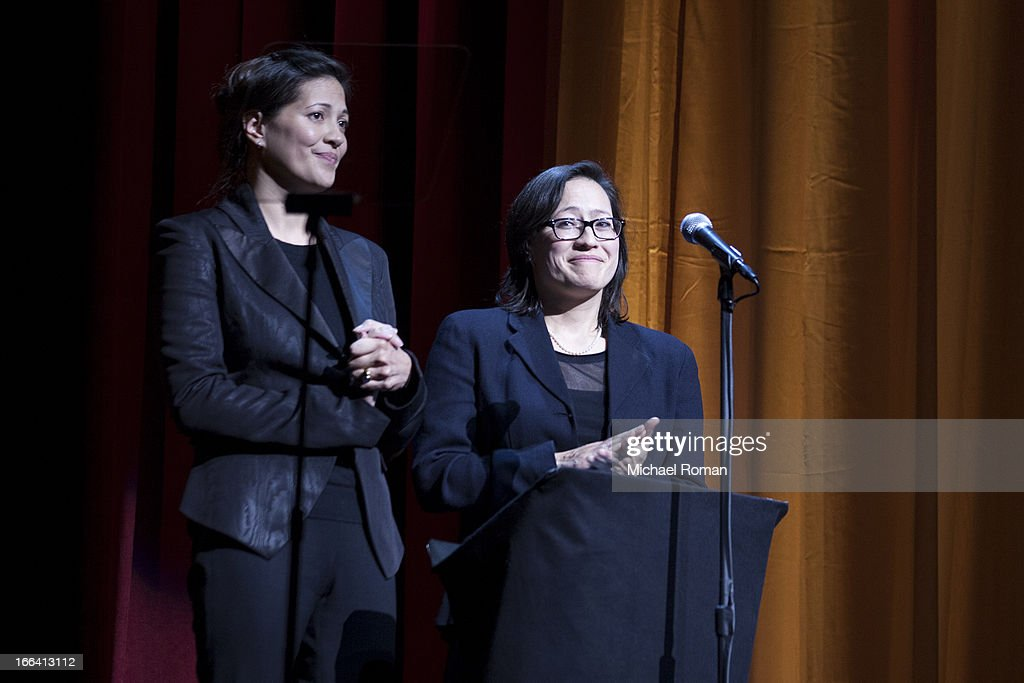 Monica Eng and Magan Eng attend the Roger Ebert Memorial Tribute at Chicago Theatre on April 11, 2013 in Chicago, Illinois.