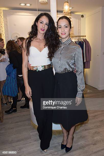 Monica Estarreado and Veronica Sanchez attend the 'Dolores Promesas' Opening Store in Paris on October 31 2014 in Paris France