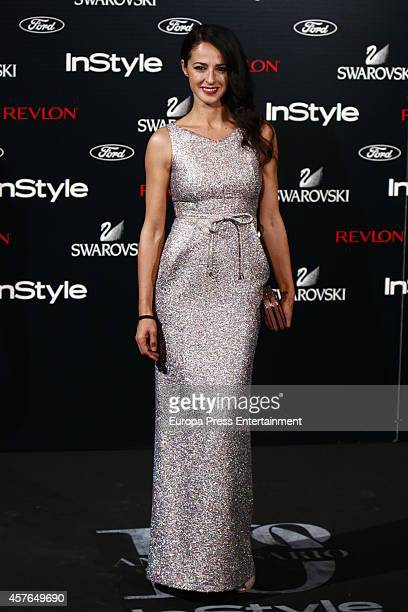 Monica Estarreado attends the InStyle Magazine 10th anniversary party on October 21 2014 in Madrid Spain