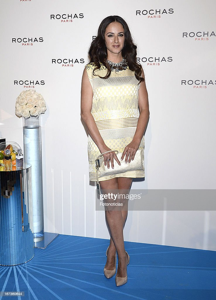 Monica Estarreado attends 'Tribut to Freshness and Rochas Women' event at the French embassy on April 24, 2013 in Madrid, Spain.