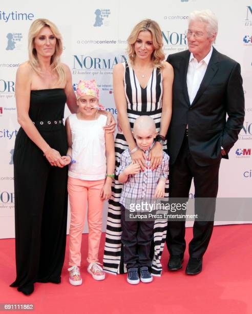 Monica Esteban Alejandra Silva and Richard Gere attend the 'Norman The Moderate Rise and Tragic Fall of a New York Fixer' premiere at the Callao...