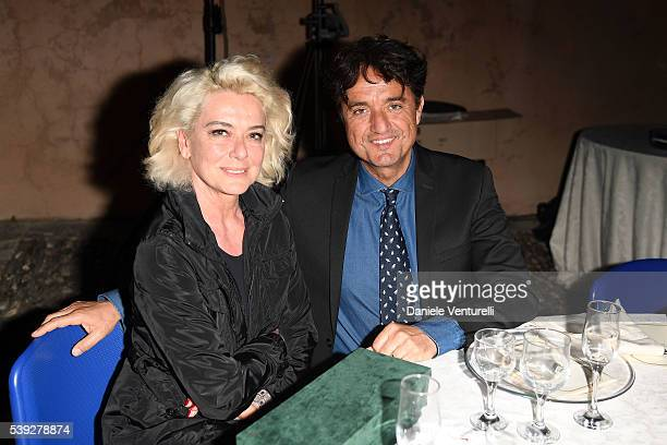 Monica Guerritore and Giulio Base attend 62 Taormina Film Fest Pre Opening on June 10 2016 in Messina Italy