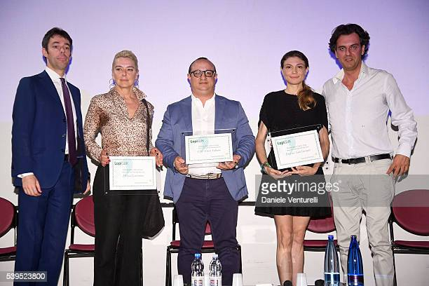 Monica Guerritore and Michel Curatolo attend 62 Taormina Film Fest Day 2 on June 12 2016 in Taormina Italy
