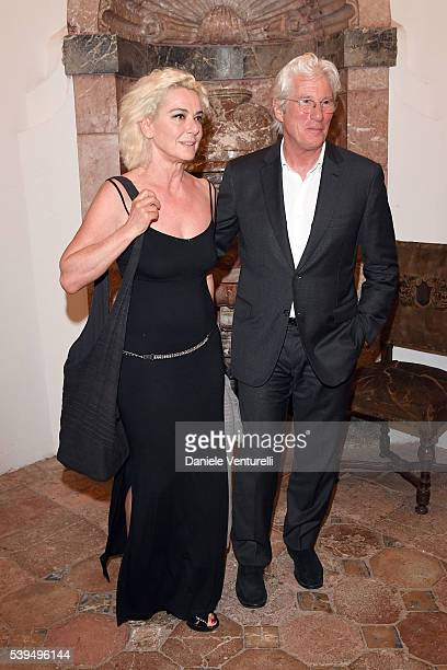 Monica Guerritore and Richard Gere attend 62 Taormina Film Fest Opening Gala Dinner at Hotel San Domenico on June 11 2016 in Taormina Italy