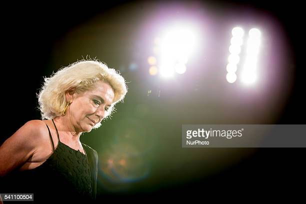Monica Guerritore attends 62 Taormina Film Fest Day 8 on June 18 2016 in Taormina Italy