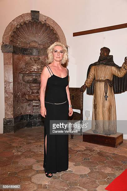 Monica Guerritore attends 62 Taormina Film Fest Opening Gala Dinner at Hotel San Domenico on June 11 2016 in Taormina Italy