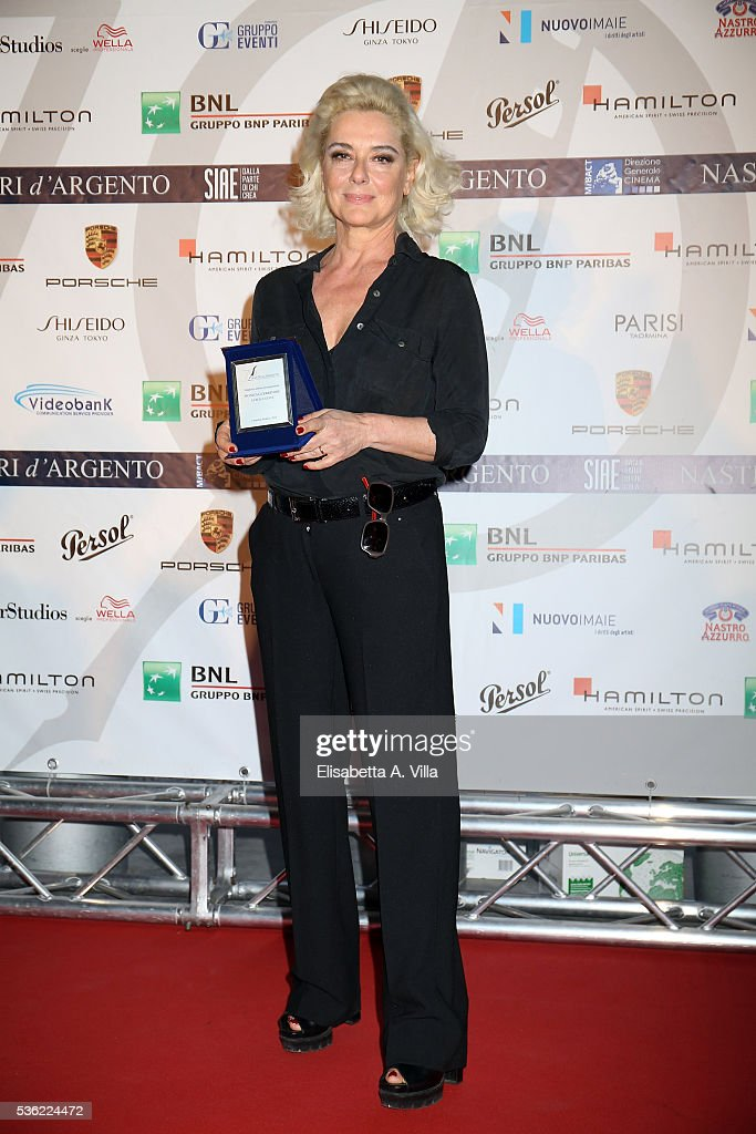 Monica Guerritore attends Nastri D'Argento 2016 Award Nominations at Maxxi on May 31, 2016 in Rome, Italy.