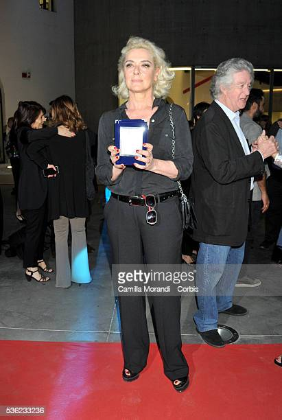 Monica Guerritore attends Nastri D'Argento 2016 Award Nominations Red carpet on May 31 2016 in Rome Italy