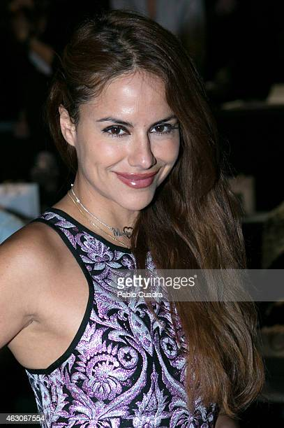 Monica Hoyos attends the catwalks during Mercedes Benz Madrid Fashion Week Fall/Winter 2015/16 at Ifema on February 9 2015 in Madrid Spain