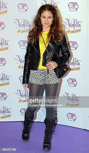 Monica Hoyos attends the concert of Argentine singer Martina Stoessel 'Violetta' on Disney Channel on December 8 2013 in Madrid Spain