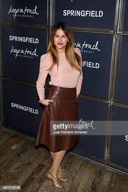 Monica Hoyos attends the fashion film 'Keep In Touch' presentation at Teatro Luchana on November 17 2015 in Madrid Spain