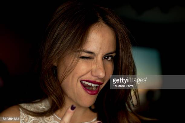 Monica Hoyos attends the kissing room of Francis Montesinos show during Mercedes Benz Fashion Week Madrid Autumn / Winter 2017 at Ifema on February...
