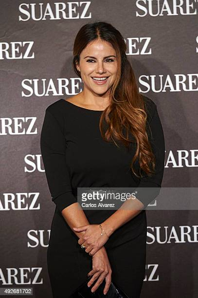 Monica Hoyos attends the new Suarez Jewelry Boutique on October 14 2015 in Madrid Spain